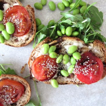 Goat cheese + Balsamic Salba Toast