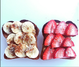 Seasonal Fruit Toast with Salba Chia