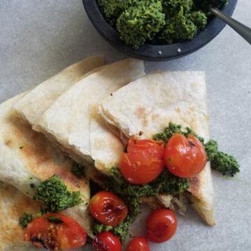 Kale and Walnut Pesto with Salba Chia Whole seeds