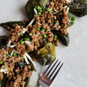 Vegan Roasted Poblano Peppers