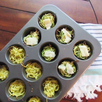 Crispy Muffin Tin Zoodles