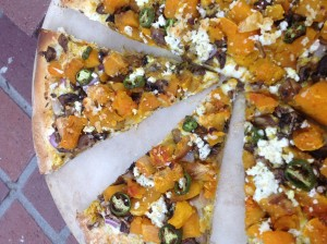 Rustic Squash Pizza with Goat Cheese