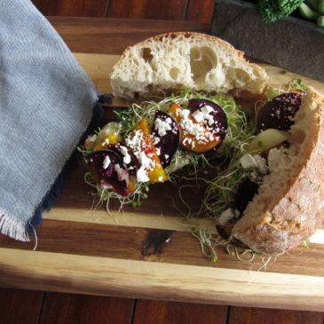Toasted Mediterranean Veggie Sandwich